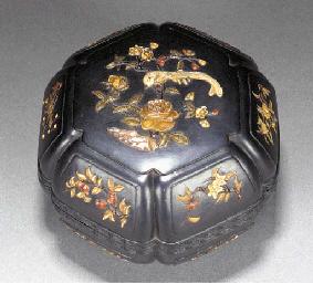 A zitan wood embellished box a