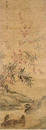 A hanging scroll 18th century