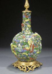 A famille verte bottle vase 19