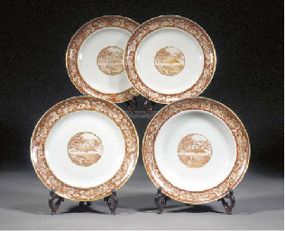 Three Canton Export plates and