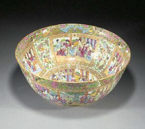 A large Cantonese punch bowl 1