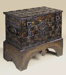 A German painted iron chest, 1
