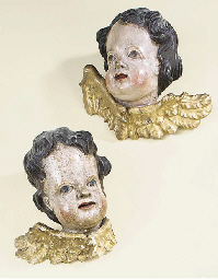 A pair of German sculpted and