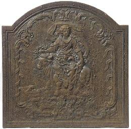 A cast iron fireback, possibly