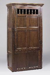 An oak cupboard, English, made