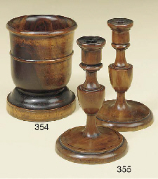 A pair of Victorian fruitwood