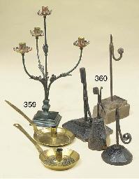 Two brass chambersticks, possi