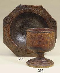 An octagonal elm mortar, 19th