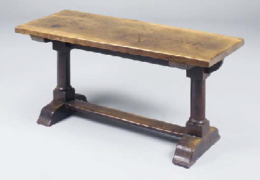 A walnut refectory table, Engl