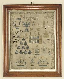A George IV needlework sampler