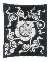 A futon cover of indigo cotton