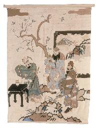 A hanging of silk kesi, woven