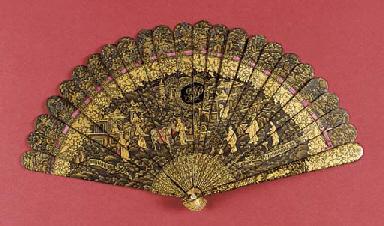 A Canton brise fan with initia