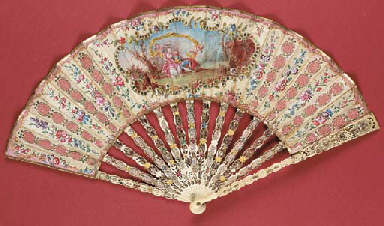 A charming fan, the silk leaf