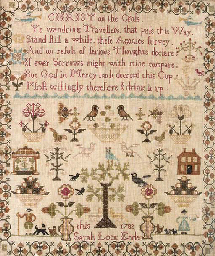 A sampler by Sarah Lock, dated