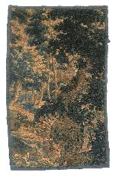 A Flemish verdure tapestry fra