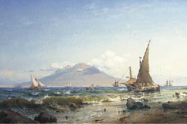 Boats in the bay of Naples