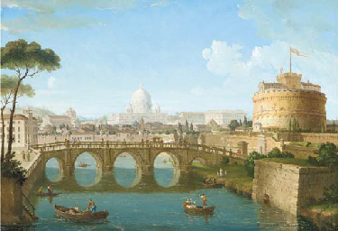 A panoramic veduta of Rome; Ca