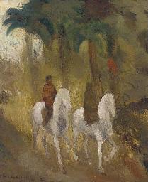 Figures on horses