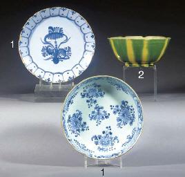 An English creamware circular