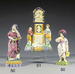 Two pearlware figures