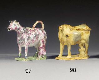 A pottery cow-creamer
