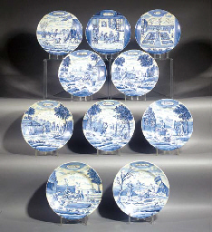 Ten Delft blue and white Month