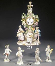 Four Meissen figures of putti