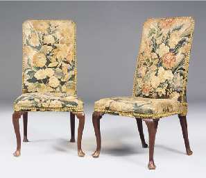 A PAIR OF EARLY GEORGE II MAHO