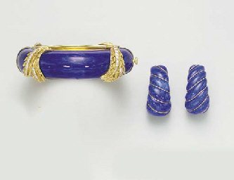 A GROUP OF ENAMEL, DIAMOND AND
