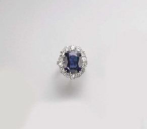 A DIAMOND AND SYNTHETIC SAPPHI