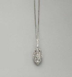 A BELLE EPOQUE DIAMOND AND PLA