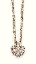 AN 18K GOLD AND DIAMOND PENDEN