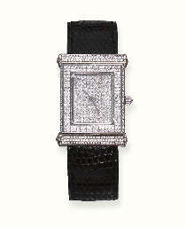 A DIAMOND-SET WRISTWATCH, BY O