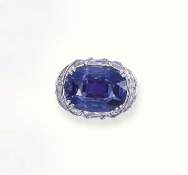 A SAPPHIRE RING, BY HARRY WINS