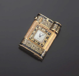 BRIQUET-MONTRE ART DECO, PAR C