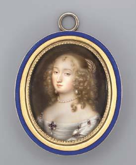 A fine miniature of a young la