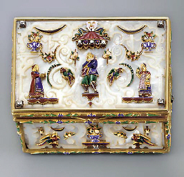 A DRESDEN-STYLE JEWELLED GOLD,