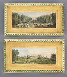 A pair of miniatures depicting