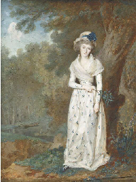 A young lady, full length hold