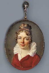 A young lady, full face in mar