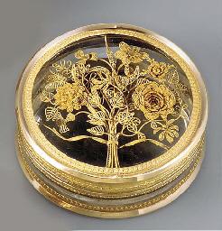 A LOUIS XVI GOLD-MOUNTED GLASS