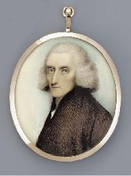 A gentleman, facing left in br