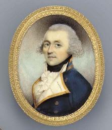 A Naval officer, facing left i