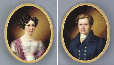 A young gentleman and lady; he