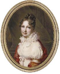 Madame Gid, facing left in whi