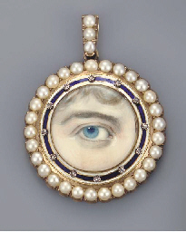 A right eye with blue iris, cu