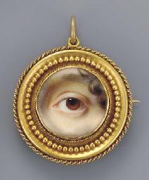 The left eye of the artist's s