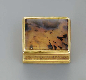 A gold and moss agate vinaigre