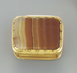An English gold and banded aga
